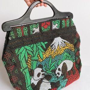 Vintage beaded panda bag